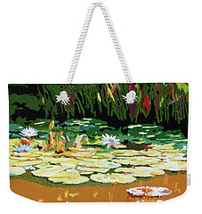 Painted Sunspots Weekender Tote Bag by John Lautermilch