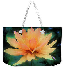 Painted Tangerine Dahlia Weekender Tote Bag