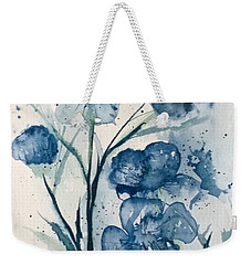 Painterly  Blues Weekender Tote Bag