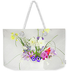 Painterly Homegrown Floral Bouquet Weekender Tote Bag