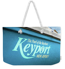 Weekender Tote Bag featuring the photograph Painterly Keyport Sailboat by Gary Slawsky