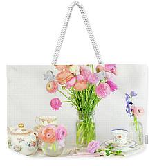 Painterly Ranunculus Tea Time Weekender Tote Bag