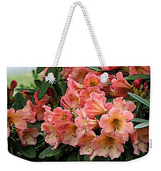 Painterly Rhododendron Grouping Weekender Tote Bag by Chris Anderson