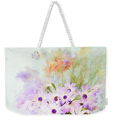 Painterly Spring Daisy Bouquet Weekender Tote Bag