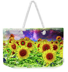 Painterly Sunflowers Weekender Tote Bag