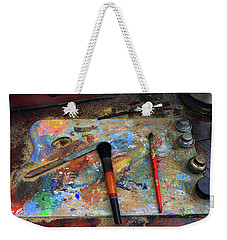 Weekender Tote Bag featuring the photograph Painter's Palette by Jessica Jenney