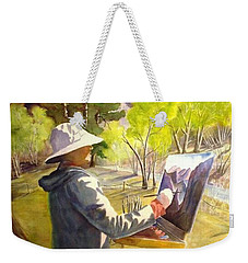 Weekender Tote Bag featuring the painting Painters Paradise by Marilyn Jacobson
