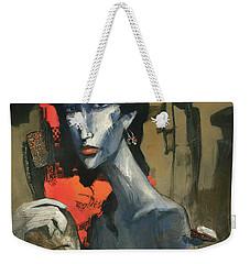 Painting Of The Lady _ 1 Weekender Tote Bag by Behzad Sohrabi