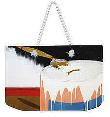 Weekender Tote Bag featuring the painting Painting Out The Sky by Thomas Blood