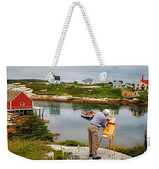 Painting Peggys Cove Weekender Tote Bag