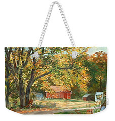 Painting The Fall Colors Weekender Tote Bag