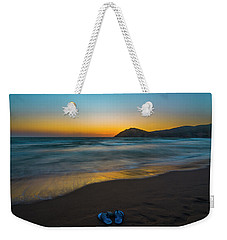 Weekender Tote Bag featuring the photograph Pair Of Blues by Julis Simo