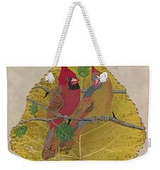 Pair Of Cardinals Weekender Tote Bag