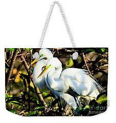 Pair Of Courting Great Egrets Weekender Tote Bag