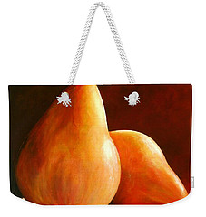 Pair Of Pears Weekender Tote Bag by Toni Grote
