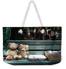 Teddy Bear Lovers On The Banch Weekender Tote Bag by Yoel Koskas