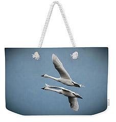 Pair Of Tundra Swan Weekender Tote Bag