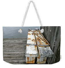 Weekender Tote Bag featuring the photograph Paired Up by Anna Ruzsan
