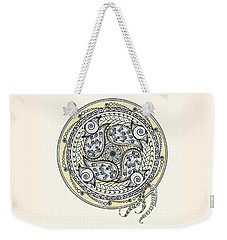 Paisley Balance Mandala Weekender Tote Bag by Deborah Smith