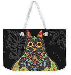 Paisley Owl Weekender Tote Bag