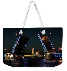 Palace Bridge At Night Weekender Tote Bag