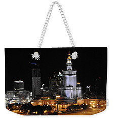 Weekender Tote Bag featuring the photograph Palace Of Culture Warsaw by Jacqueline M Lewis