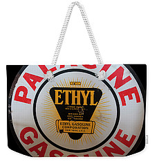 Weekender Tote Bag featuring the photograph Palacine Gasoline Sign by Chris Flees