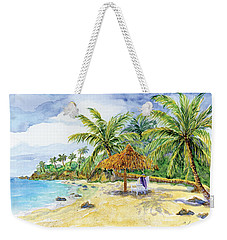 Palappa N Adirondack Chairs On A Caribbean Beach Weekender Tote Bag