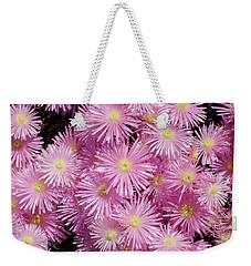 Pale Pink Flowers Weekender Tote Bag by Mark Barclay