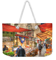 Palermo Market Place Weekender Tote Bag by Juli Scalzi