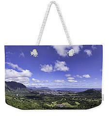 Pali Lookout Panorama Weekender Tote Bag
