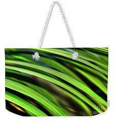 Weekender Tote Bag featuring the photograph Palm Abstract By Kaye Menner by Kaye Menner