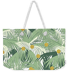 Palm And Gold Weekender Tote Bag