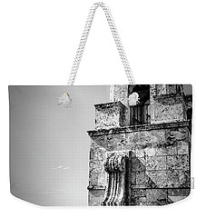 Palm Beach Clock Tower In Black And White Weekender Tote Bag