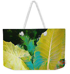 Weekender Tote Bag featuring the painting Palm Branches by Mindy Newman