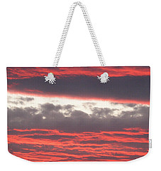 Weekender Tote Bag featuring the photograph Palm Desert Sunset by Phyllis Kaltenbach