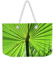 Weekender Tote Bag featuring the photograph Palm Frond by Bonnie Muir