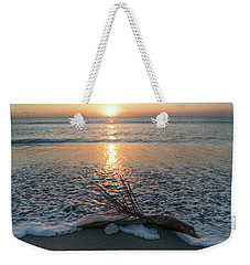 Palm Frond Coral Sunrise Wave Delray Beach Florida Weekender Tote Bag