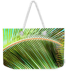 Weekender Tote Bag featuring the photograph Palm Frond Sway by D Davila