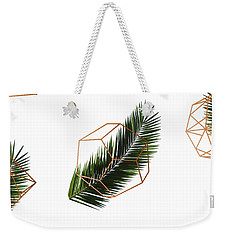 Palm Geometry Weekender Tote Bag by Uma Gokhale