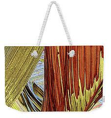 Palm Leaf Abstract Weekender Tote Bag by Ben and Raisa Gertsberg