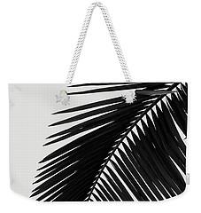 Palm Leaves Bw Weekender Tote Bag