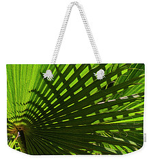 Weekender Tote Bag featuring the photograph Palm Pattern No.1 by Mark Myhaver