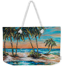 Palm Reflection Lagoon Weekender Tote Bag