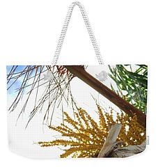 Palm Sky View Weekender Tote Bag by Linda Hollis