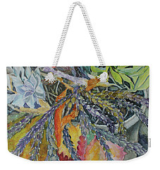 Weekender Tote Bag featuring the painting Palm Springs Cacti Garden by Joanne Smoley