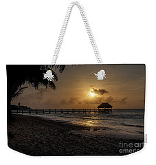 Palm Sunrise Weekender Tote Bag