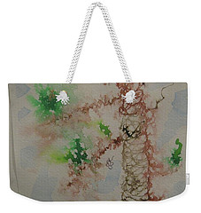 Weekender Tote Bag featuring the drawing Palm Tree by AJ Brown
