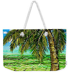 Weekender Tote Bag featuring the painting Palm Tree by Debbie Chamberlin