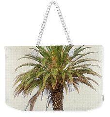 Palm Tree In Coastal California In A Retro Style Weekender Tote Bag